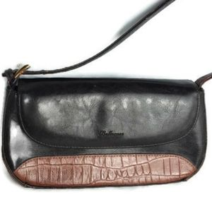 Bellerose Italian brown purse with croc accent